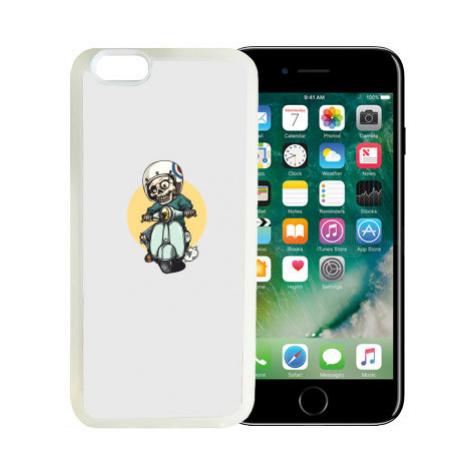 iPhone 7/8 kryt gumový soft Kostlivec na motorce