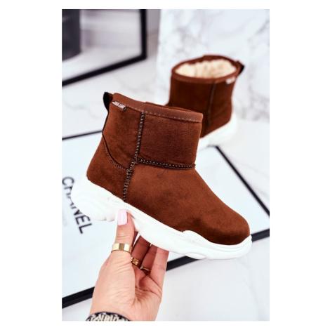 Children's Snow Boots Big Star With Fur Camel GG374086 Kesi
