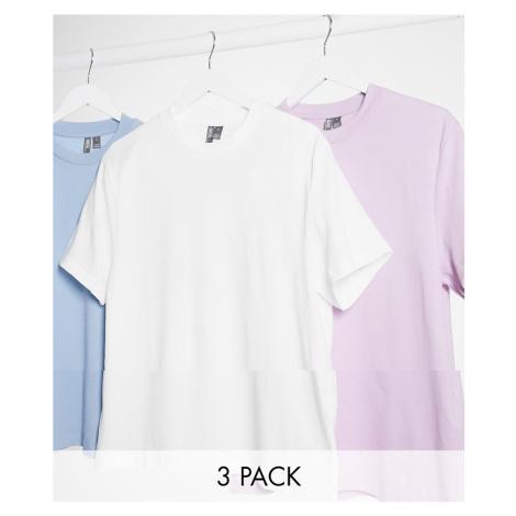ASOS DESIGN 3 pack t-shirt-Multi