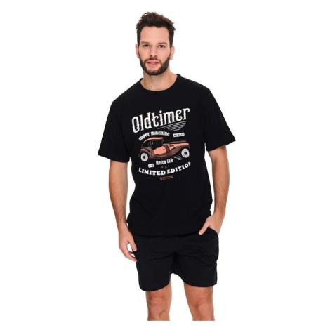 Pánské pyžamo Oldtimer černé