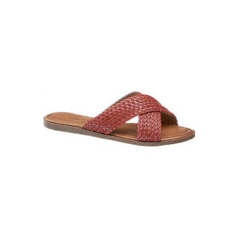 Červené pantofle Claudia Ghizzani