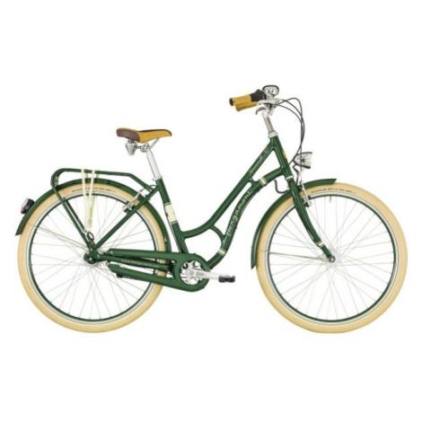 Bergamont SUMMERVILLE N7 FH W zelená - Dámské městské retro kolo