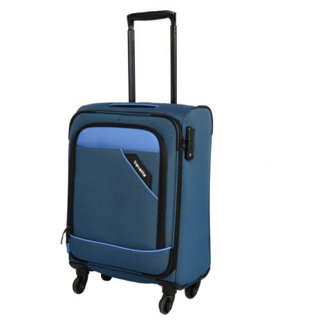 Travelite Kabinový cestovní kufr Derby 4w S Blue 41 l