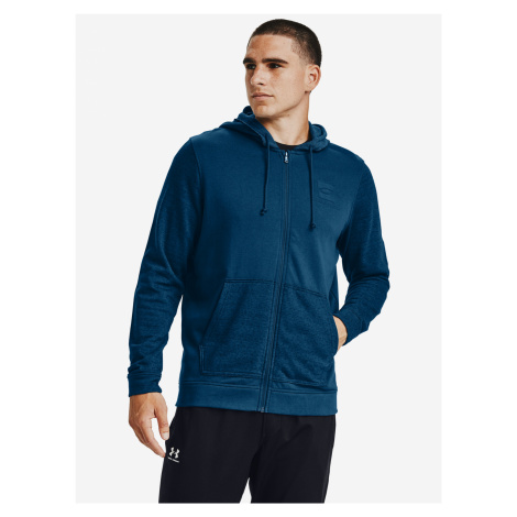 Sportstyle Terry SI Full Zip Mikina Under Armour Modrá