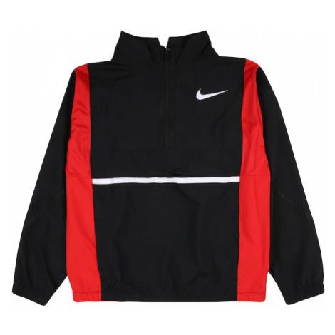 NIKE Sportovní bunda červená / černá / bílá