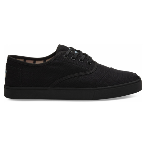 Black/Black Heritage Canvas Cup Men Cord Sneak Toms