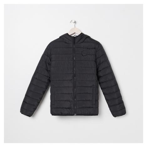 Sinsay - Prošívaná bunda s kapucí - Černý