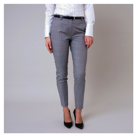 Dámské společenské kalhoty s kostkovaným vzorem 11246 Willsoor