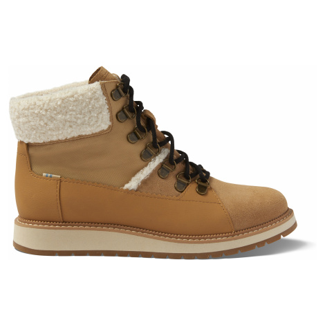 Waterproof Desert Tan Suede/Leather Mesa Women Boot Toms
