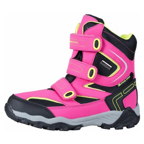 Dětská zimní obuv Alpine Pro DAIRO - růžová