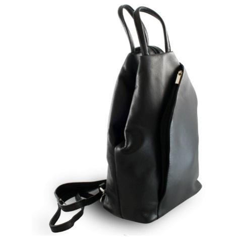 Černý kožený batůžek a kabelka Hazelien Arwel