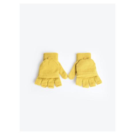 GATE Jednoduché pletené rukavice bez prstů