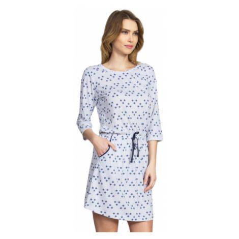 Dámské domácí šaty s tříčtvrtečním rukávem Vienetta Secret Linda | světle šedá