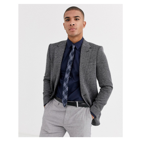 River Island jersey skinny blazer in grey check