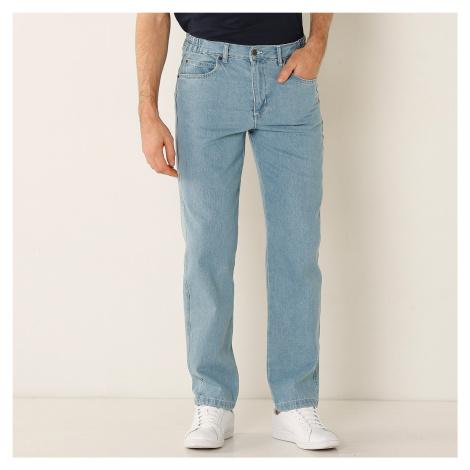 Blancheporte Džíny s elastickým pasem sepraná modrá