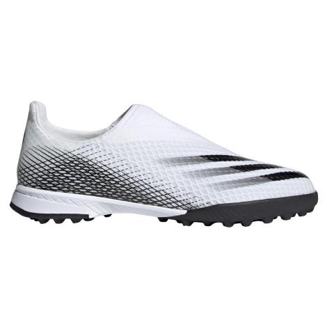 Dětské kopačky adidas X Ghosted 3 Laceless TF Bílá / Černá