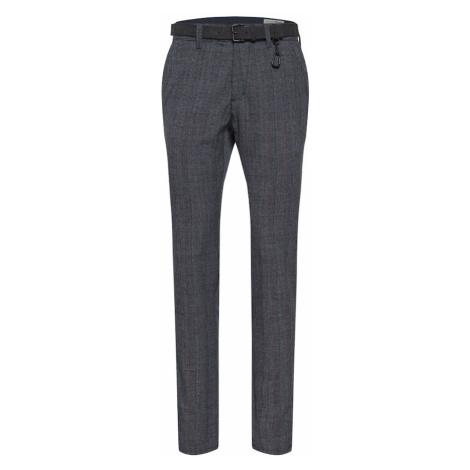 TOM TAILOR DENIM Chino kalhoty námořnická modř / šedá