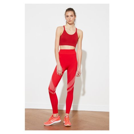 Trendyol Red Seamless Melancholy Detail Sports Sports Tights