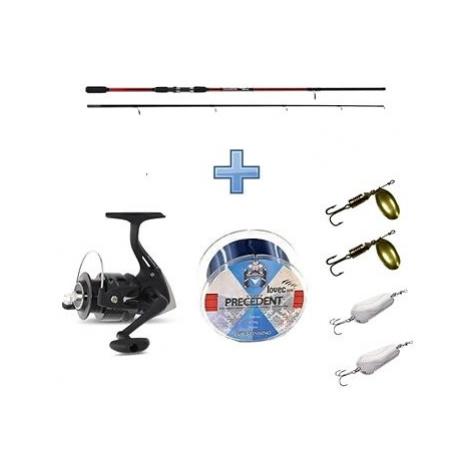 Saenger Přívlačový set SensiTec Medium Light Spin 2,4m 12-45g + vlasec a třpytky ZDARMA