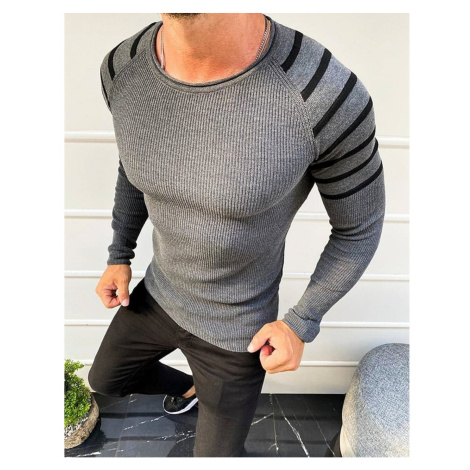 Men's slipped-over sweater anthracite WX1640 DStreet