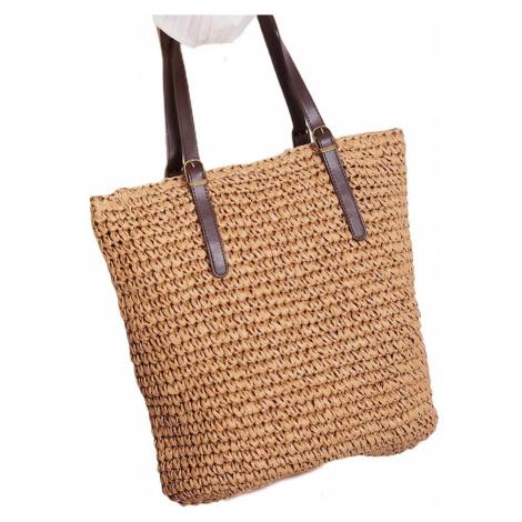 Světle hnědá pletená taška BASIC