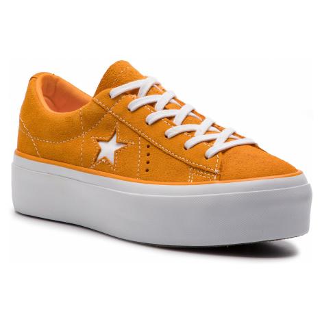 Tenisky CONVERSE - One Star Platform Ox 563487C Field Orange/White/White