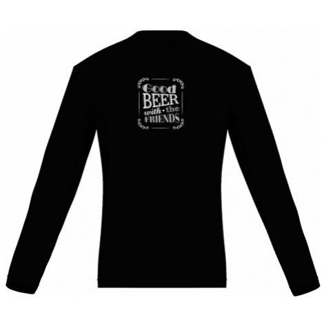 Pánské tričko dlouhý rukáv Good beer with friends