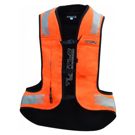 Airbagová Vesta Helite Turtle 2 Hivis Rozšířená Oranžová