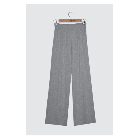 Trendyol Gray Wick Flare Knitted Pants