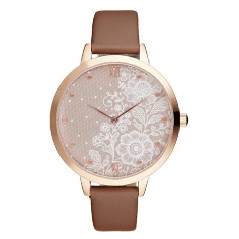 Růžovo-zlaté hodinky CRR005 Charlotte Raffaelli
