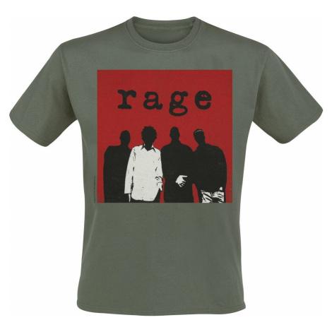 Rage Against The Machine Silhouette Square Tričko olivová