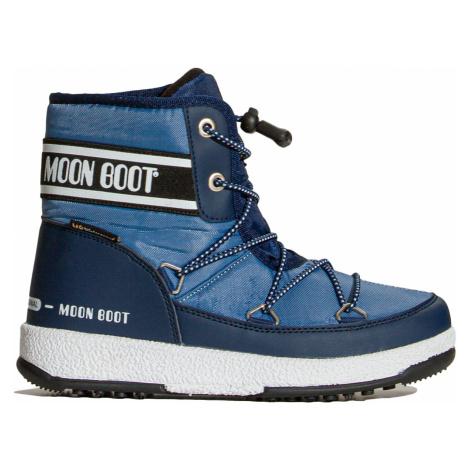Sněhule Moon Boot JR BOY MID WP 2 modrá
