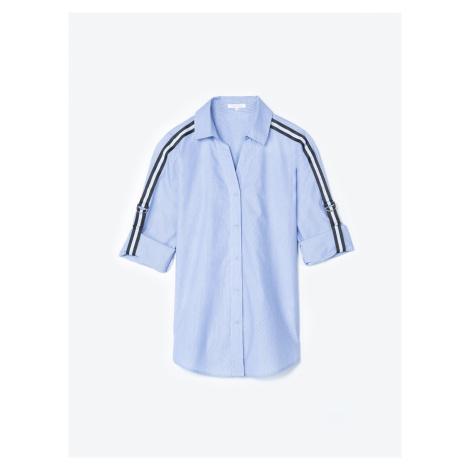GATE Bavlněná košile s ozdobným proužkem