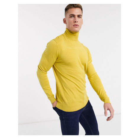 River Island roll neck in yellow