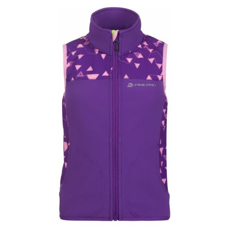 ALPINE PRO ASKLEPIOSO Dětská softshellová vesta KVEN017827 Amaranth purple