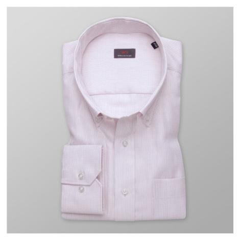 Pánská košile klasická světle růžová s jemným vzorem 11995 Willsoor
