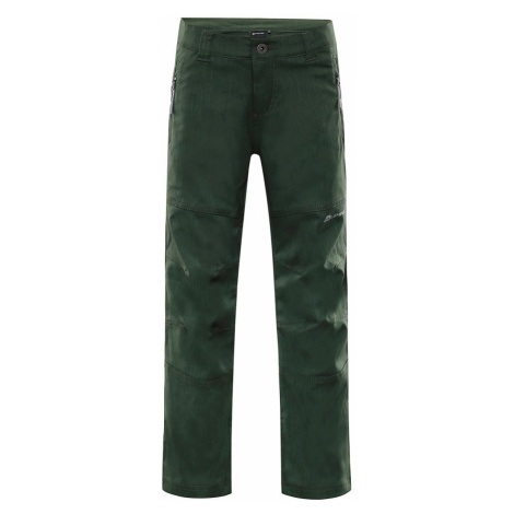ALPINE PRO PLATAN 4 Dětské softshellové kalhoty KPAP158505 rifle green