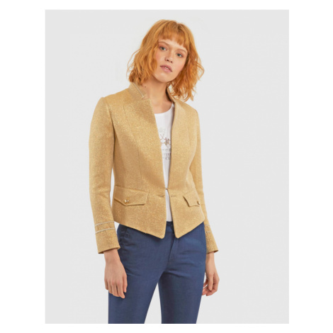 Sako La Martina Woman Jacket Canvas Lurex - Žlutá