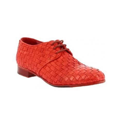 Leonardo Shoes 32892/1 PAPUA ROSSO INTRECCIO Červená