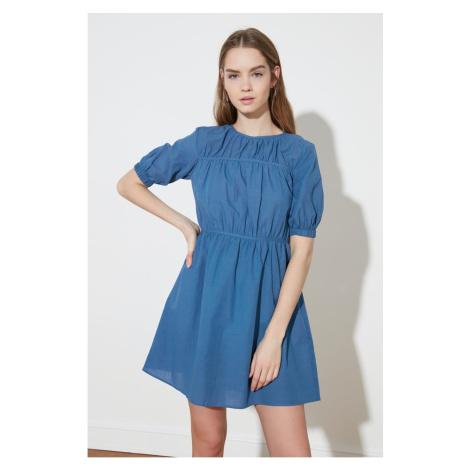Trendyol Indigo Waist Ruffle Dress