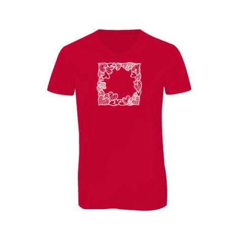 Pánské triko s výstřihem do V Srdíčkový rámeček
