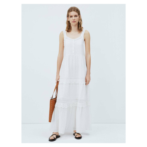 Pepe Jeans dámské bílé šaty Brenda