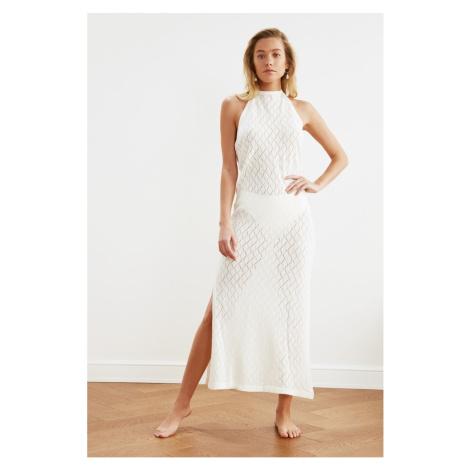 Trendyol Ecru Knitted Beach Dress