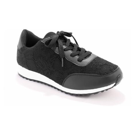 Blancheporte Krajkové tenisky, černé černá