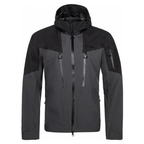 KILPI Pánská outdoorová bunda LEXAY-M NM0002KIDGY Tmavě šedá