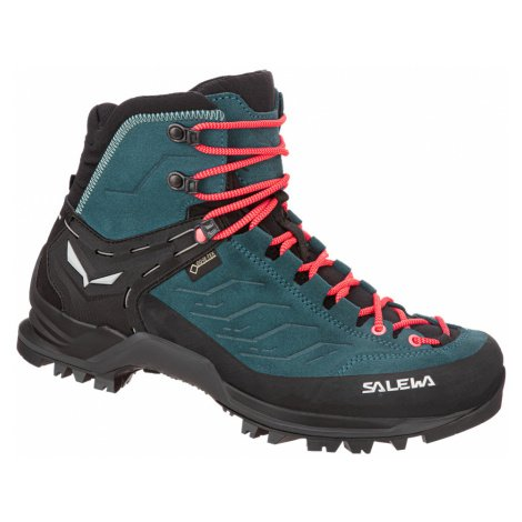 Dámská turistická obuv Salewa WS MTN Trainer Mid GTX Black Magnet/Viridian Green
