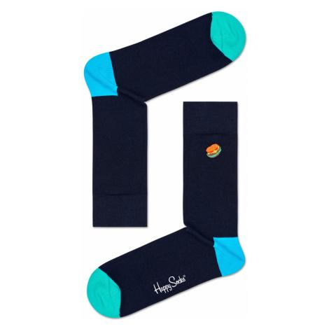 Embroidery Hamburger Sock Happy Socks