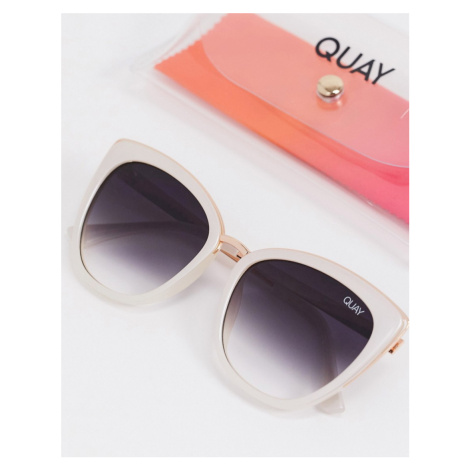 Quay Australia Honey cat eye sunglasses in white