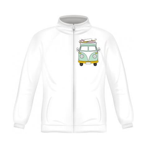 Pánská mikina zip FRUIT Camper Van
