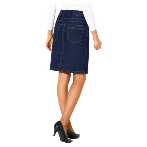 Blancheporte Džínová sukně s vysokým pasem tmavě modrá